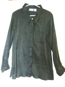 Fashion Bug Women's  Size 18/20  Button Down Long Sleeve Evening/Holiday Blouse
