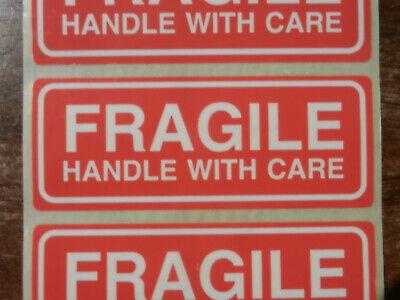 10x Hinweisaufkleber Vorsicht Glas! Etikett Fragile Klebeband Zerbrechlich 3