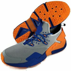 Nike-Air-Huarache-Drift-Grey-Royal-Orange-Men-10-5-Florida-Gators-AH7334-005-NEW