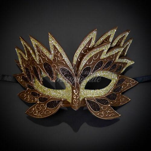 Brown Sea Unicorn Mardi Gras Venetian Masquerade Mask for Women M7240