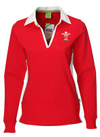 Ladies Official Wru Welsh Rugby Shirt Long Sleeve (top Nations Wales 2016)