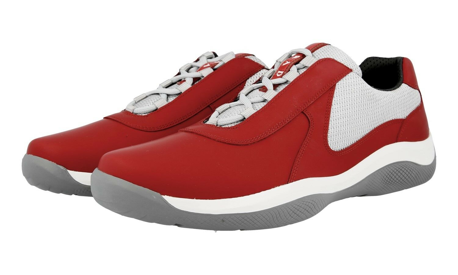 AUTH LUXURY PRADA AMERICAS CUP SNEAKERS SHOES 4E2905 RED US 11.5