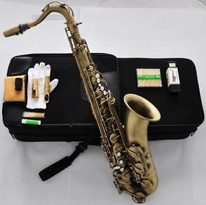Professioanl-Antique-Tenor-Saxophone-High-F-Free-Metal-Mouth-10X-Reed-Pearl-Key