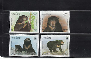 Laos-1994-Bears-Sc-1174-1177-complete-mint-never-hinged