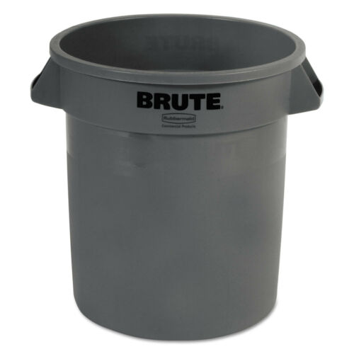 Rubbermaid Commercial Round Brute Container Plastic 10 gal Gray 2610GRA