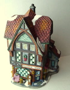 Grandeur-Noel-Victorian-Village-Antique-Shop-Christmas-1999-Vintage-Replacement