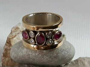AAA-QUALITY-STERLING-925-SILVER-HANDMADE-JEWELRY-AFRICA-RED-RUBY-BAND-RING