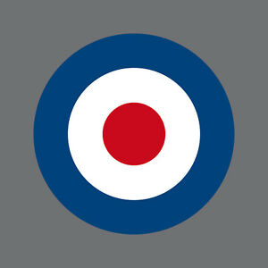 Etiquette-3cm-Royal-Air-Force-Angleterre-GB-Royaume-Uni-Target-Mod-Scooter-Vespa