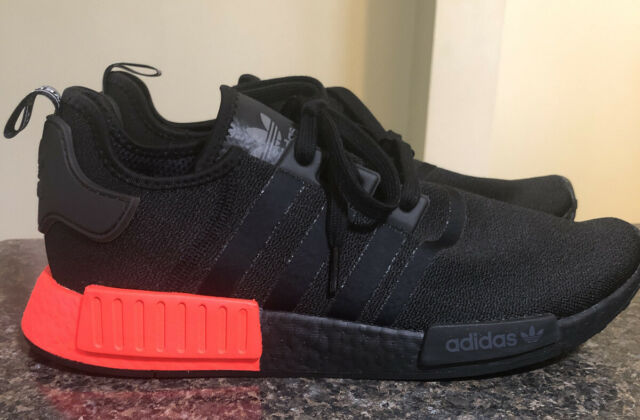 Adidas Originals Nmd R1 Boost Shoes Black Red Lifestyle Gym Ee5107 Size 12 For Sale Online Ebay