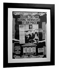 KISSING THE PINK+Naked+POSTER+AD+RARE ORIGINAL 1983+FRAMED+EXPRESS GLOBAL SHIP