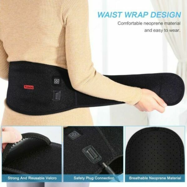 Back Support Wrap Waist Heating Pad Hot Cold Therapy ...