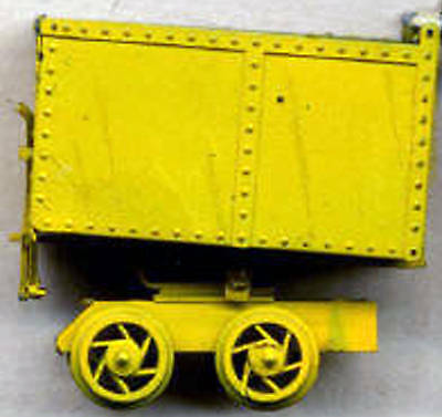 18 INCH GAUGE ROTARY MINE CART O On30 Model Railroad Unptd Static Kit GL3024