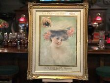 "Early 1900's LA FLOR DE ERB Cigar Framed Ad ""Watch Video"""