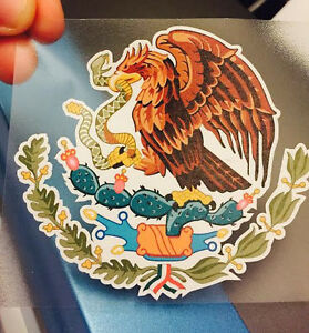 Mexican Coat Of Arms Sticker Decal Mexico Flag Car Truck