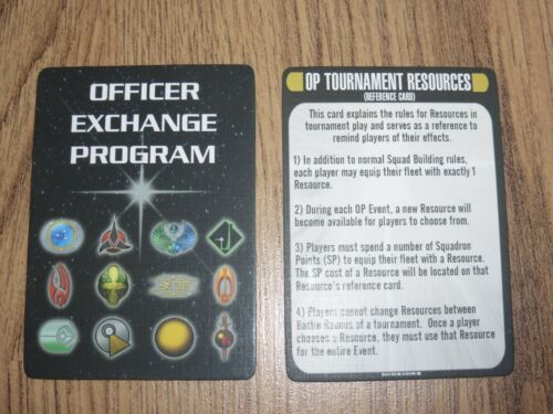 Star Trek Attack Wing OP Officer Exchange Program Cards