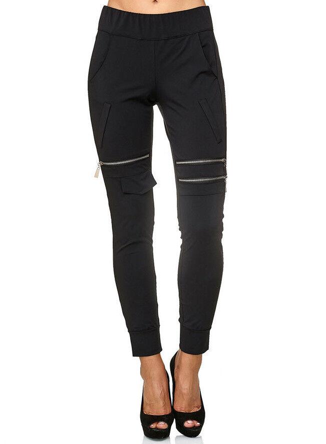 Ancora Neuf Pantalon Abby Noir Taille 44 (taille 5) Jogger-style Italy Parfait Siège