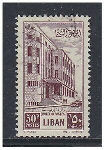 Lebanon - 1953, 50p G.P.O stamp - Used - SG 472