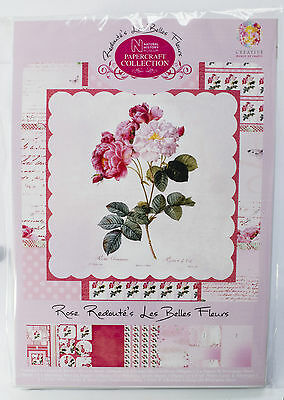 redoute/'s les belles fleurs Papercraft Collection Card Making Kit Aster