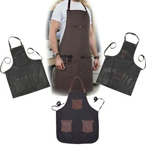New-Professional-Black-Leather-Hairdressing-Barber-Apron-Cape-Barber-Hairstylist
