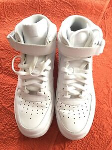 Details about Women's Nike Air Force 1 '07 MID Sneakers 366731 100 White Sneakers