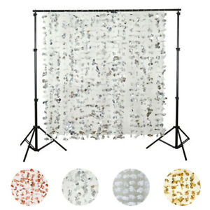 SILVER Flower GARLAND BACKDROP 6ft x 6 ft Stage Wedding Catering Decoration