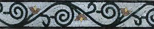 Spiral Fun Floral Home Decorative Border Marble Mosaic BD848