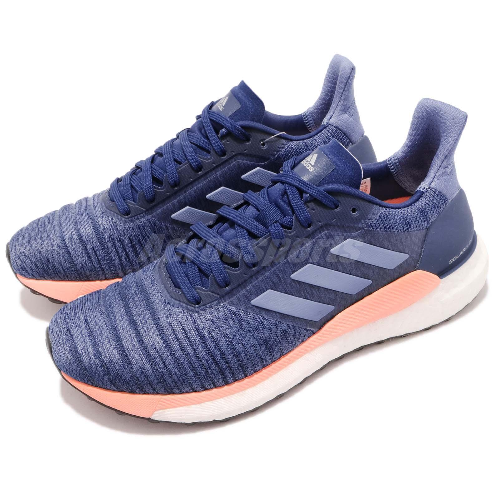 Adidas Solar Glide W Mystery Ink bluee Clean orange Women Running shoes AQ0334