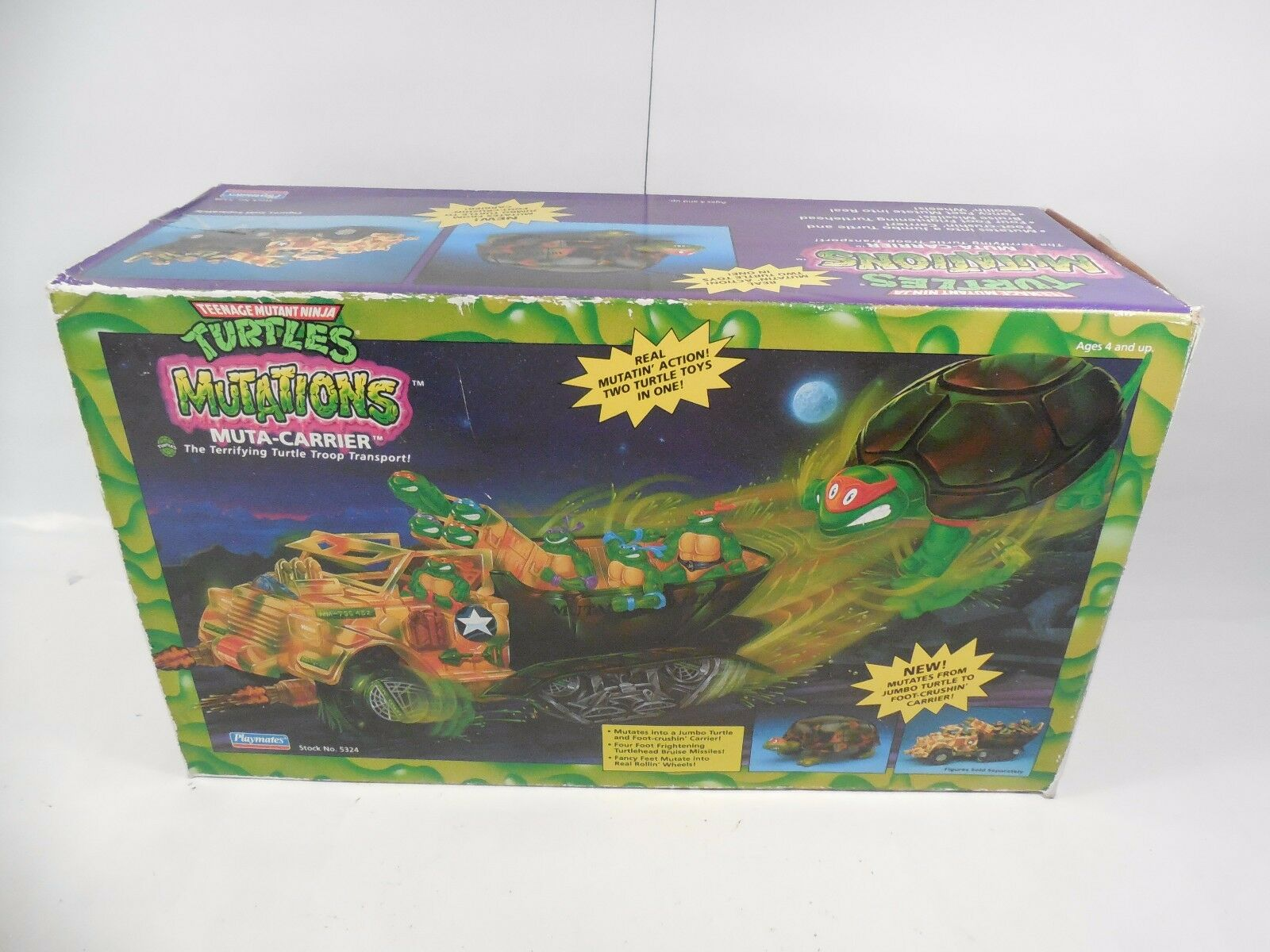VINTAGE TEENAGE MUTANT NINJA TURTLES MUTATIONS MUTA-CARRIER VEHICLE W/BOX 1992