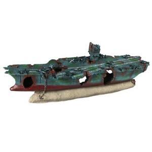 Xxl Flugzeugtrager Bootswrack Flugzeug Schiff Boot Aquarium Deko 234 449172 Ebay