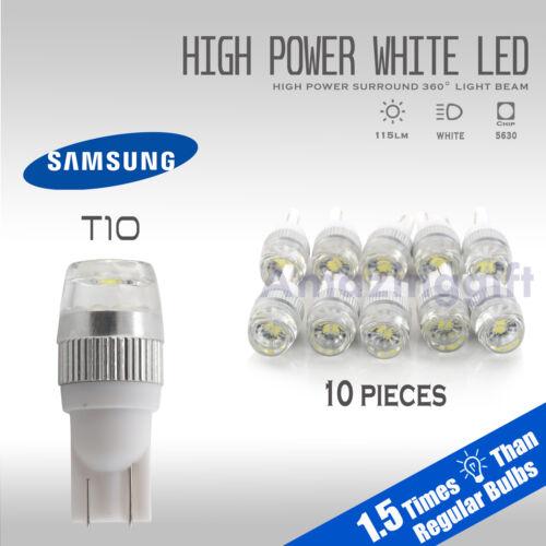 High Power 6000K White T10 921 Interior//License Plate 5630 SMD LED Light Bulbs