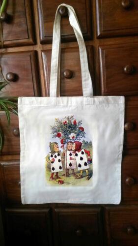 Alice In Wonderland eco friendly Cotton vintage Tote Bag Shopper Bag 01