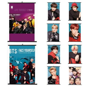 Lot-of-amp-Kpop-Bangtan-Boys-Hanging-Painting-Art-Painting-Wall-Scroll-Poster