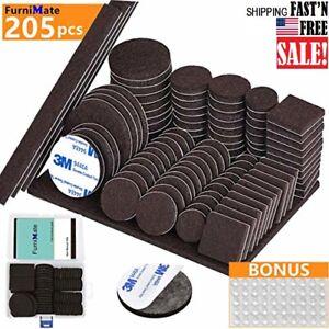 205PCS-FELT-FURNITURE-PADS-FLOOR-PROTECTORS-Hardwood-Floors-Chair-Table-Legs-Fee
