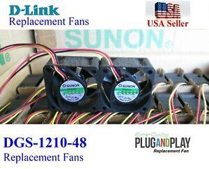 4X New Quiet Replacement Fans for D-Link DGS-3100-48