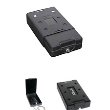 Bulldog Bd1100 Car Personal Safe W Key Lock Mounting Bracket And Cable Blk