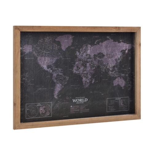 Wandbild 70x50cm Weltkarte Landkarte Erde Map Globus Atlas GERAHMT art.work