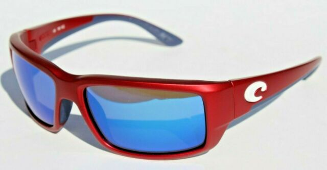 COSTA DEL MAR Fantail POLARIZED Sunglasses USA Red/Blue 400 LIMITED EDITION NEW