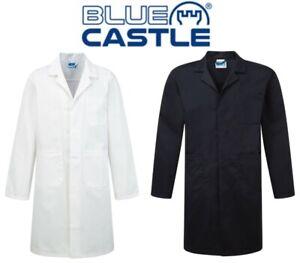 Blue-Castle-Heavy-Duty-Polyester-Cotton-Warehouse-Lab-Coat-XS-S-M-L-XL-XXL