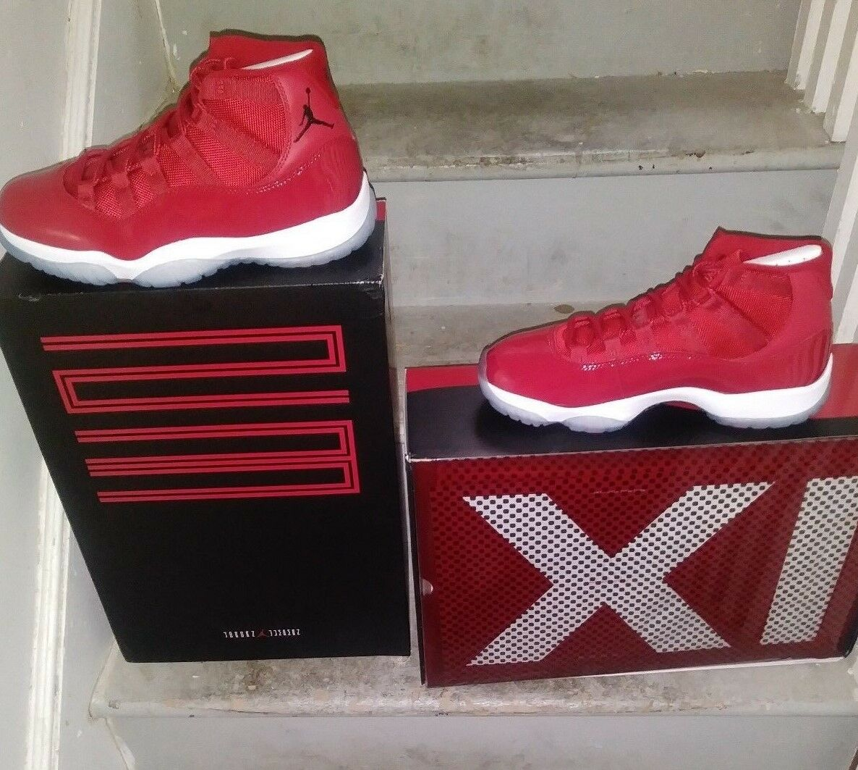 New Air Jordan 11 Retro Gym Red Black White Win Like 96 Mens Youth 378037 623