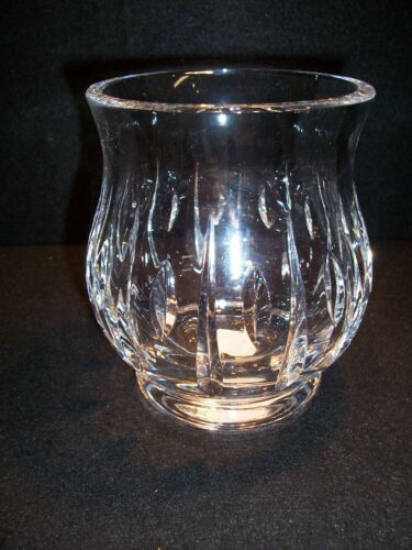 "Waterford Marquis Ariel Cut Glass Hurricane Candle Holder 5 34"" tall"