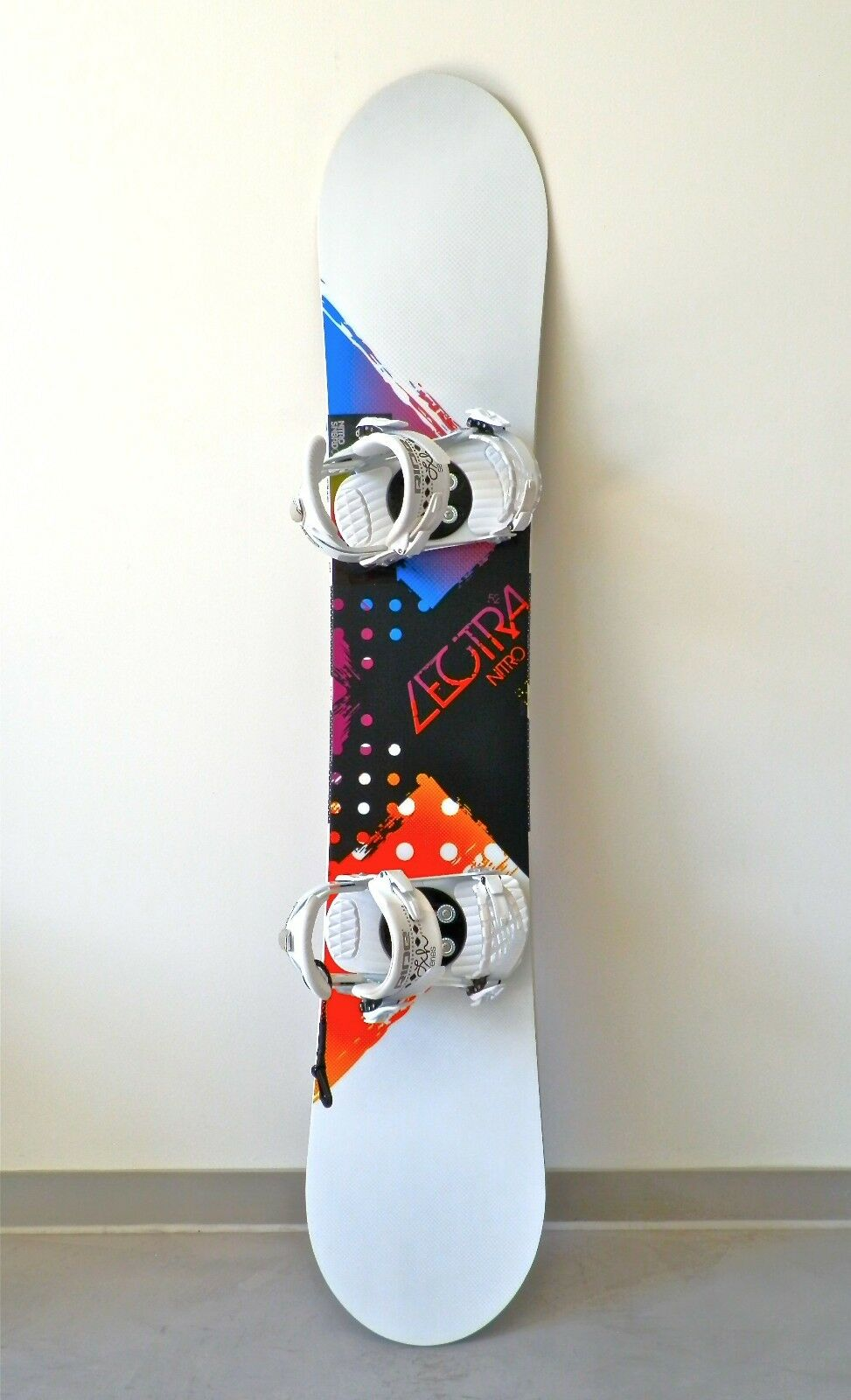 Nitro Snowboard Women's Lectra colorband Zero 152 cm Ride Lxh Bindings (52) 2012