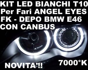 CANBUS-LED-T10-BIANCHI-fari-ANGEL-EYES-BMW-E46-DEPO-FK