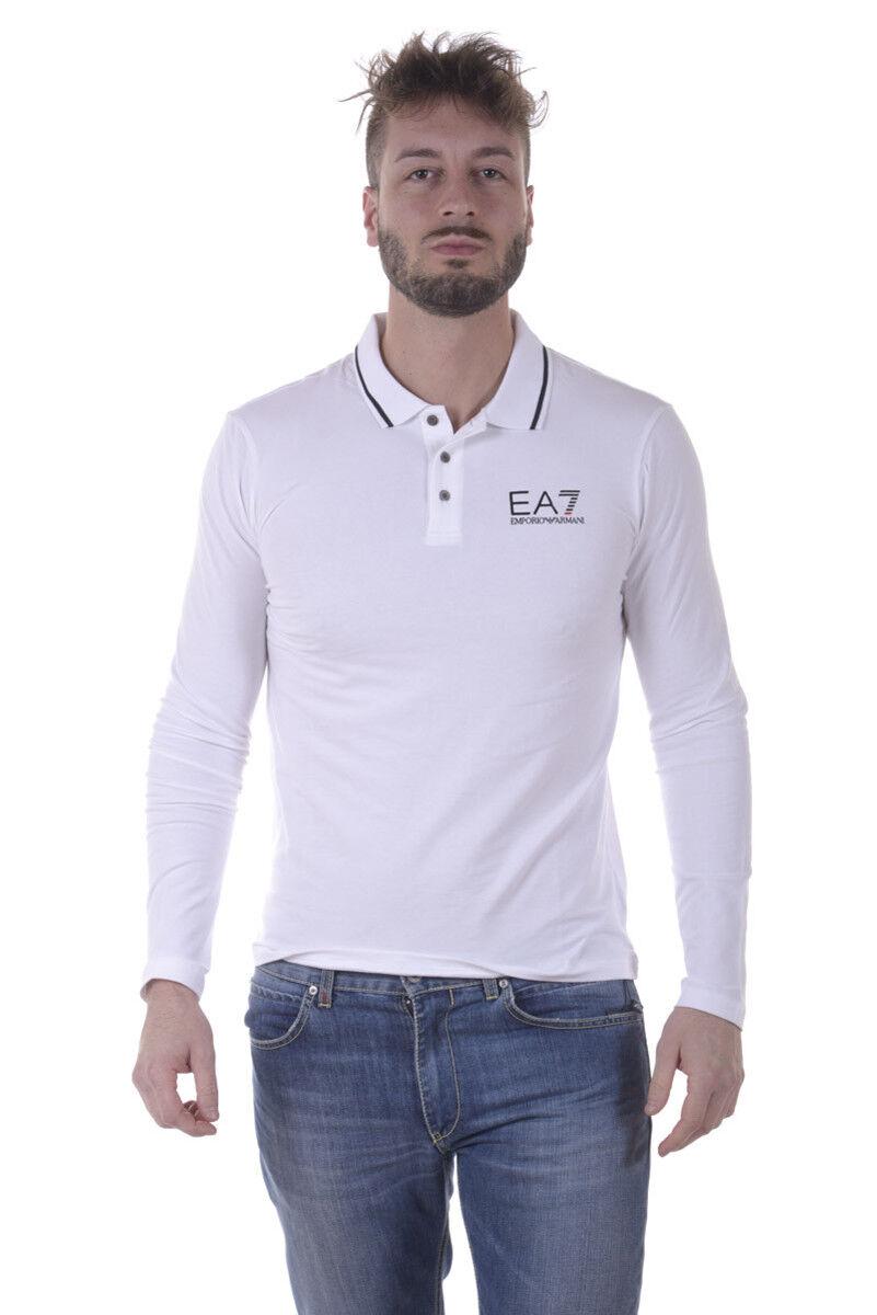 Polo Emporio Armani EA7 Shirt Cotone  Herren Bianco 3YPF54PJ03Z 1100