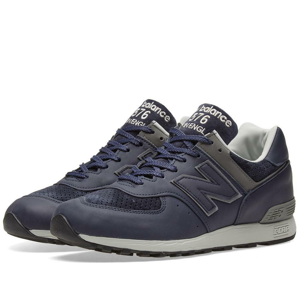 4147af37310317 Men s New Balance 576 GBB UK Size 7 Navy bluee Leather Trainers Made in  England