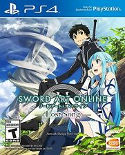 PLAYSTATION 4 PS4 GAME SWORD ART ONLINE LOST SONG BRAND NEW SEALED