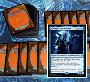 mtg-BLUE-GADWICK-COMMANDER-EDH-DECK-Magic-the-Gathering-rare-cards-kefnet-sphinx