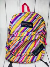 Jansport Superbreak Backpack Multi Texture Stripe