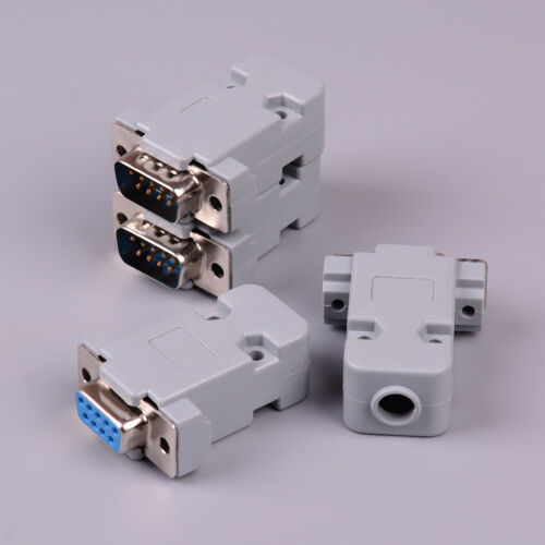 2Set RS232 serial port connector DB9 male//female socket plug connector 9pin CTS