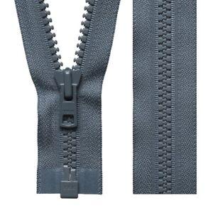 Gris oscuro Extremo Abierto Cremallera YKK Vislon grueso abrigo pesado deber cremalleras (46cm a 81cm)  </span>