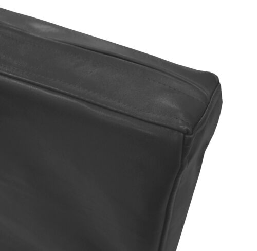 Pe248t gris en cuir synthétique motif classique boîte 3D Coussin de siège Housse de taille personnalisée